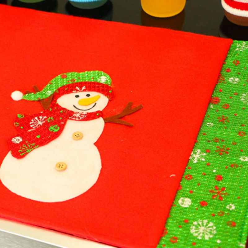 Mats & Pads Size 48*34cm New 2019 Christmas Cloth Placemat Cute Xmas Decoration For Home Christmas Dinner Table Mat Cutlery Mats