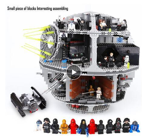 05035 Star Wars Fighter serii gwiazda śmierci Tarkin nauki klocki 3081pcs zabawkowe klocki na prezent dla dzieci, 10188 w Klocki od Zabawki i hobby na  Grupa 1