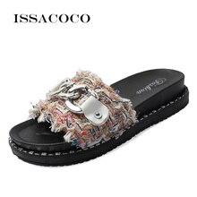 ISSACOCO Womens Slippers Women Summer Sandals Home Indoor Outdoor Flip-flops Beach Zapatillas