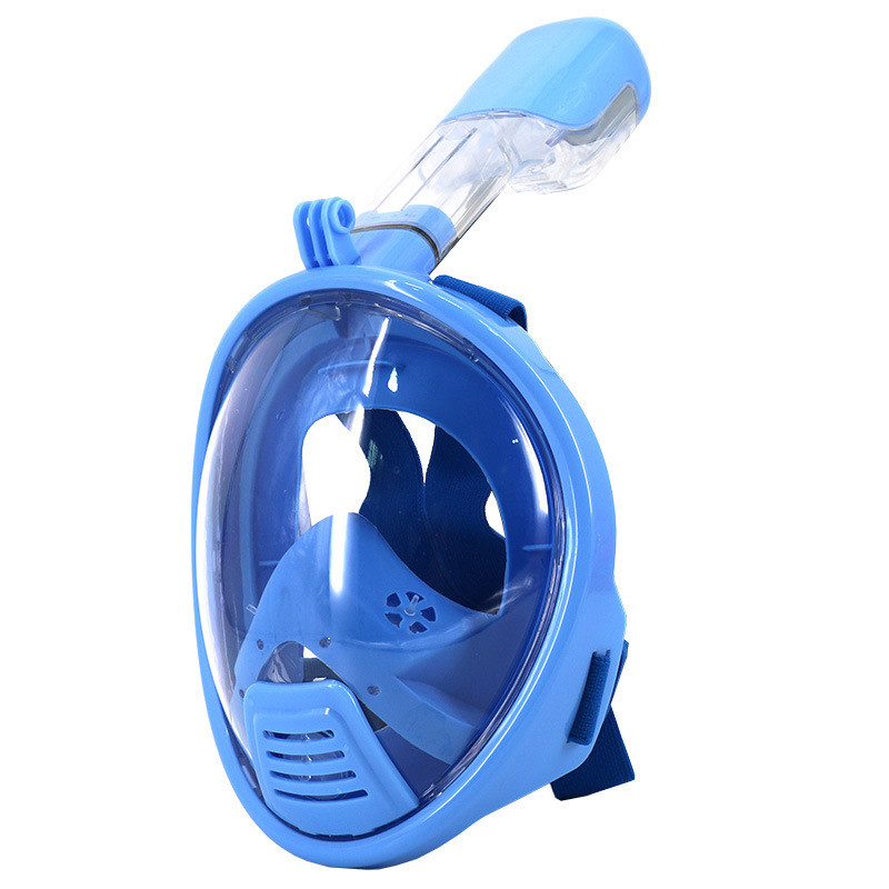 Anti Fog 180 Degree Children Mask Snorkel Swimming Training Scubafull face snorkeling mask Gopro font b