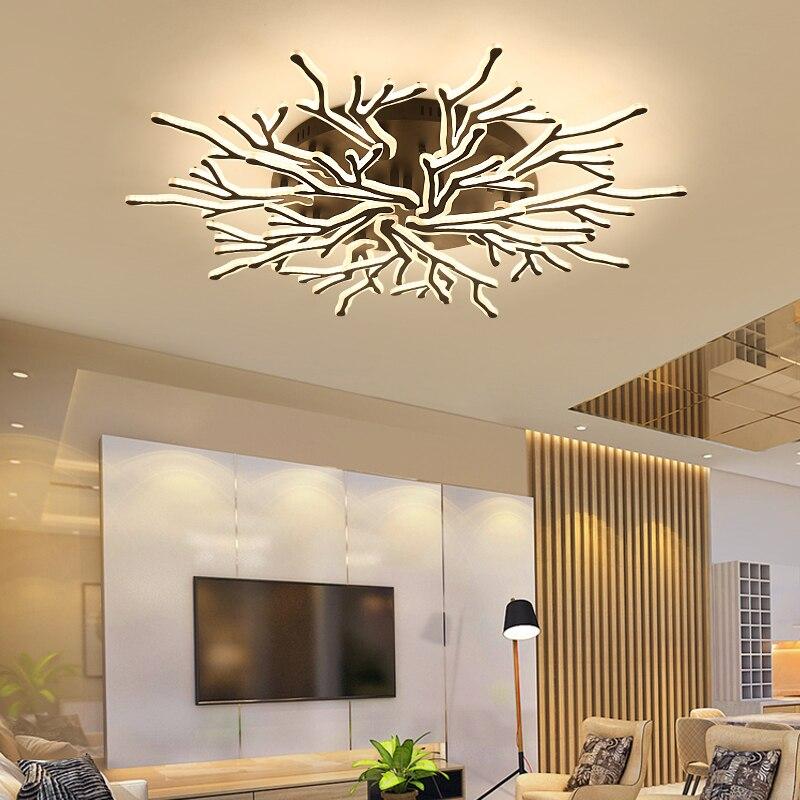 New Arrival Black Finish Modern Led Chandelier For Living Room Master Room Bedroom Fixtures AC85-265V Chandelier Fixture