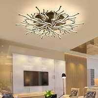 Neue Ankunft Schwarz Finish Moderne Led Kronleuchter Für Wohnzimmer Master Zimmer Schlafzimmer Leuchten AC85-265V Kronleuchter Leuchte