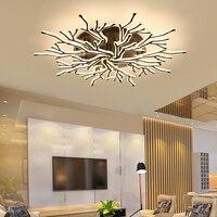 New Arrival Black Finish Modern Led Chandelier For Living Room Master Room Bedroom Fixtures AC85 265V Chandelier Fixture