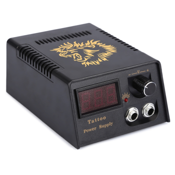 Professional 1pcs Digital LCD Tattoo Power Supply Black Power Supply For Tattoo Machine Free Shipping mast touch screen power supply tattoo power for tattoo machine supply digital tattoo machine power