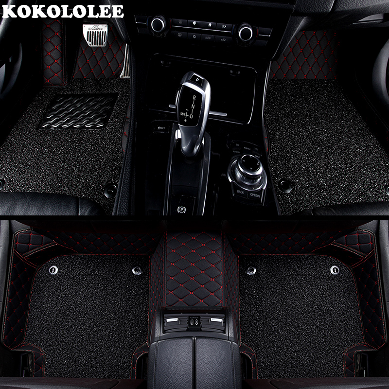 KOKOLOLEE Custom car floor mats for Peugeot All Model 3008 206 307 207 2008 408 308 508 301 4008 RCZ 301auto accessories custom fit car floor mats for peugeot 206 207 2008 301 307 3008 408 4008 508 car styling carpet floor liner