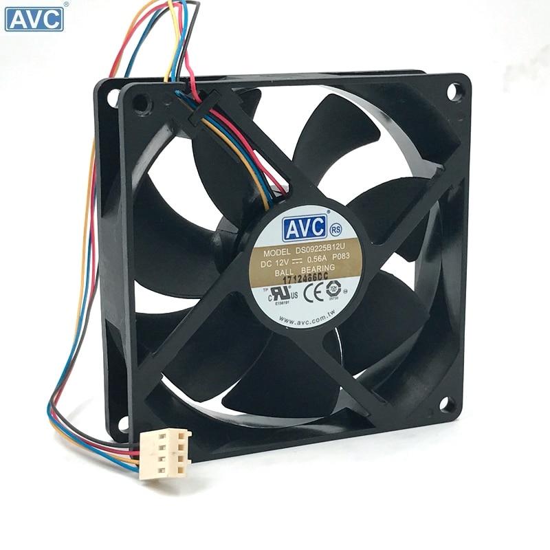 original AVC 9025 9225 DS09225B12U 4-wire double ball temperature control PWM fan hrts 5760 b u 0 12 industrial temperature sensors 28 gauge