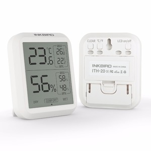 Inkbird ITH-20 Digital Hygrometer Indoor Outdoor Thermometer Humidity Monitor with Temperature Gauge Humidity Meter