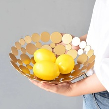 New Nordic Style Modern Luxury Fruit Basket Home Living Room Creative Large Bowl Decoration