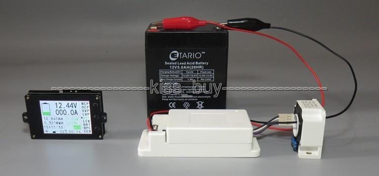 Wireless Multimeter 120VDC 100A 500A Voltmeter Ammeter Power Capacity Time Meter