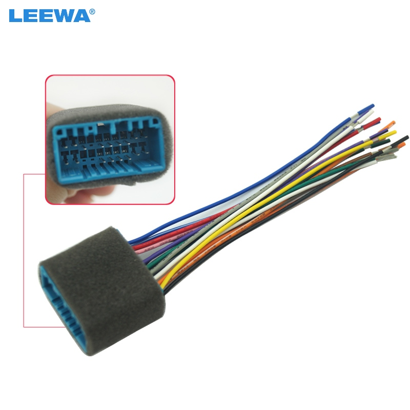 Leewa 1pc Car Aftermarket Audio Radio Stereo Wiring Harness For Honda  Acura  Accord  Civic  Crv