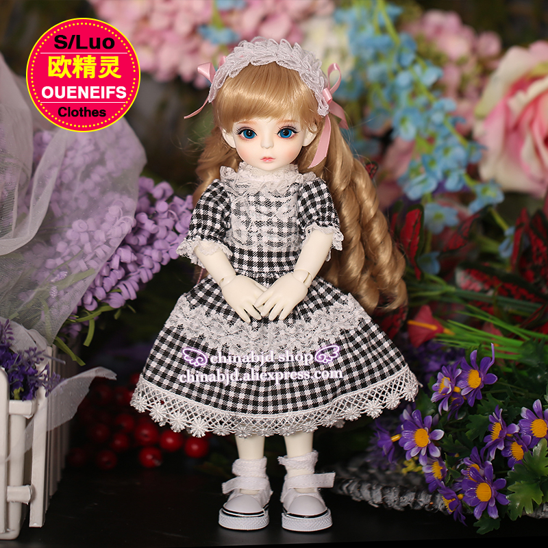 OUENEIFS free shipping 1/6 bjd sd doll clothes sweet and lovely dress with like a breath of fresh air,no doll or wig YF6 to 20 handsome grey woolen coat belt for bjd 1 3 sd10 sd13 sd17 uncle ssdf sd luts dod dz as doll clothes cmb107
