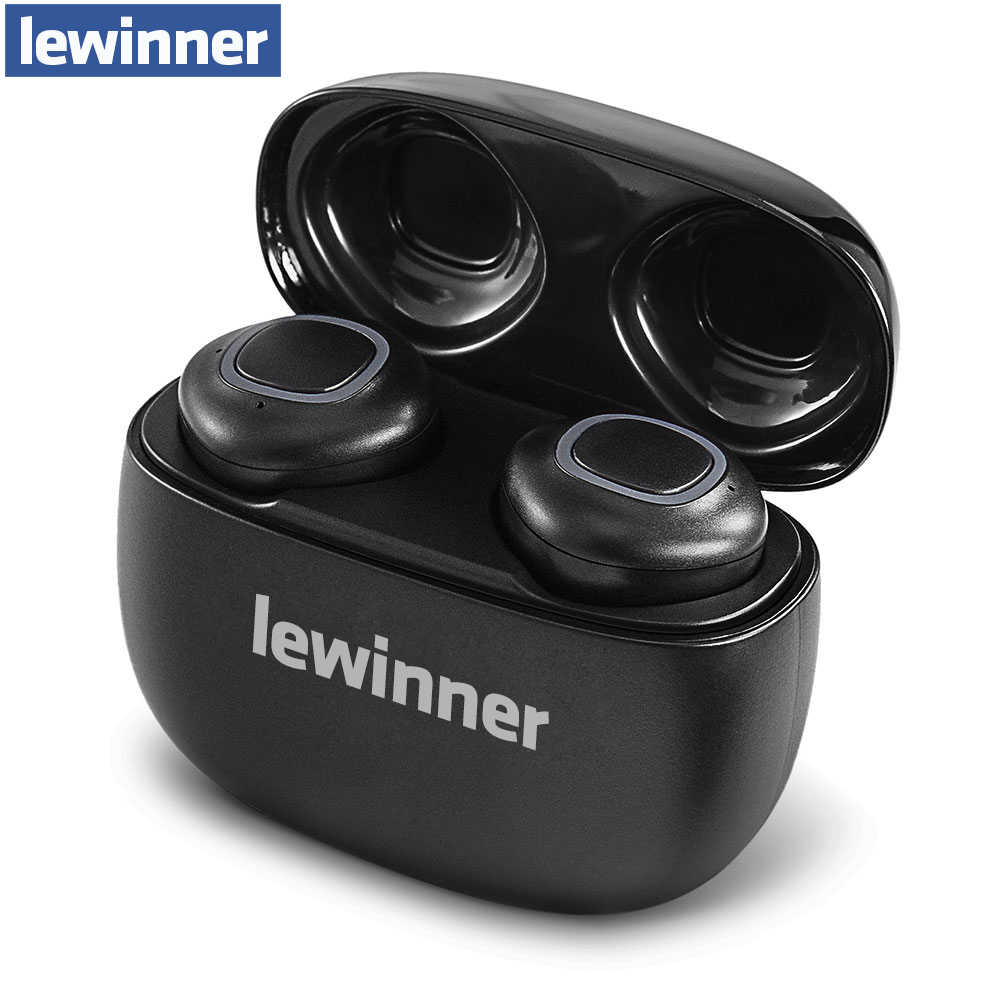Lewinner V09 Bluetooth Earphones Wireless Earphone TWS Earbuds 500Mah Mini Charging Case Deep Bass Stereo Sound with Mic
