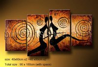 High quality Modern group abstract nude girls canvas oil painting on canvas handmade woman abstract love art picture