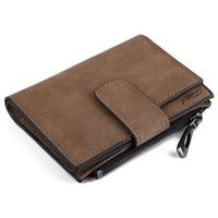 Solid Color Letter Snap Fastener Zipper Short Clutch Wallet For Lady Women Mini Wallets Trifold Slim
