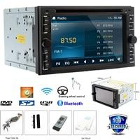 2 Din Car Stereo Touchscreen Autoradio Bluetooth DVD Player Analog TV AM/FM Radio Steering Wheel USB/SD Wifi Car Audio+Remote