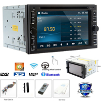 2 Din Car Stereo Touchscreen Autoradio Bluetooth DVD Player Analog TV AM/FM Radio Steering Wheel USB/SD Wifi Car Audio+Remote