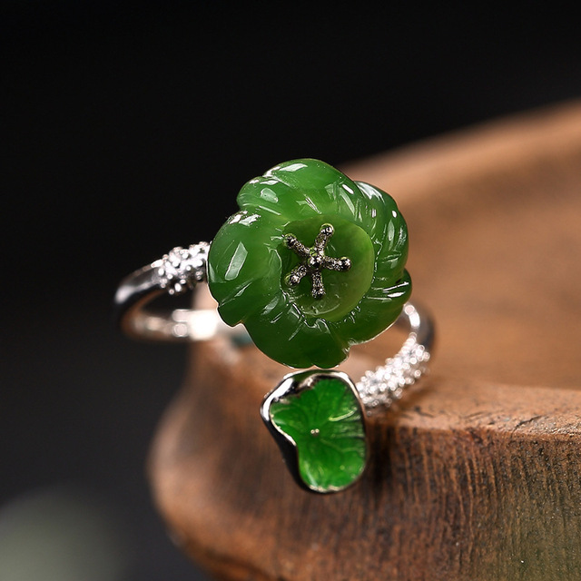 Natural Stone Jade Ring2