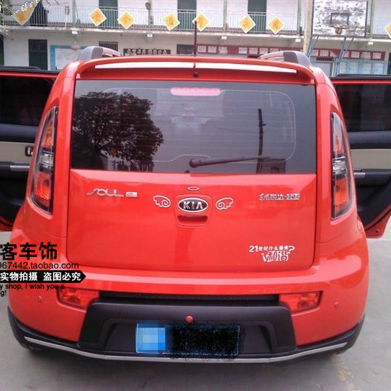 For For Kia Soul 2010 2011 2012 2013 2014 2015 ABS Plastic Unpainted Primer Color Rear Trunk Lip Wing Roof Spoiler Car Styling car auto accessories rear trunk trim tail door trim for subaru xv 2009 2010 2011 2012 2013 2014 abs chrome 1pc per set