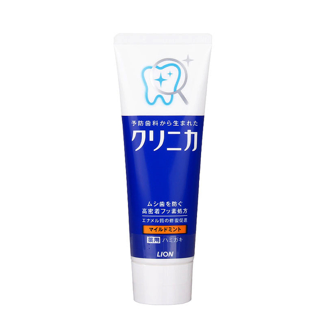 Japan Lion Clinica Mint Toothpaste Dental daily use whitening teeth Remove smokers stains, Fights plaque &decay strengthen teeth