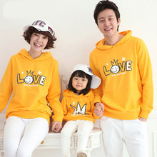 New Family Matching Outfits Cute Family Hoodies Matching Mother Daughter Clothes Mother Son Outfits Family Clothing Sweatshirt