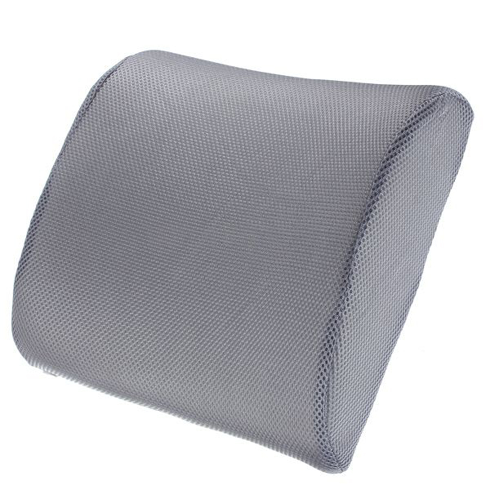 memory foam lumbar back support cushion relief for office home car auto travel booster seat. Black Bedroom Furniture Sets. Home Design Ideas