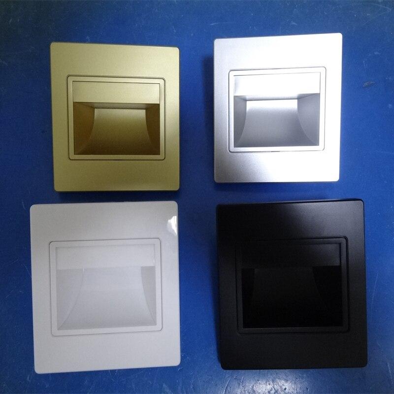 Горячий деталь материал ABS 1.5 Вт теплый белый 85-265Vac белый корпус из светодиодов сентября настенные запрос сейчас