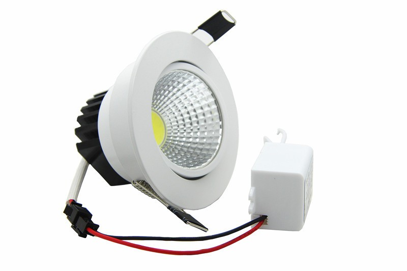 Super Brillante Empotrable LED cob Downlight Regulable 3W 5W 7W 9W - Iluminación LED - foto 2