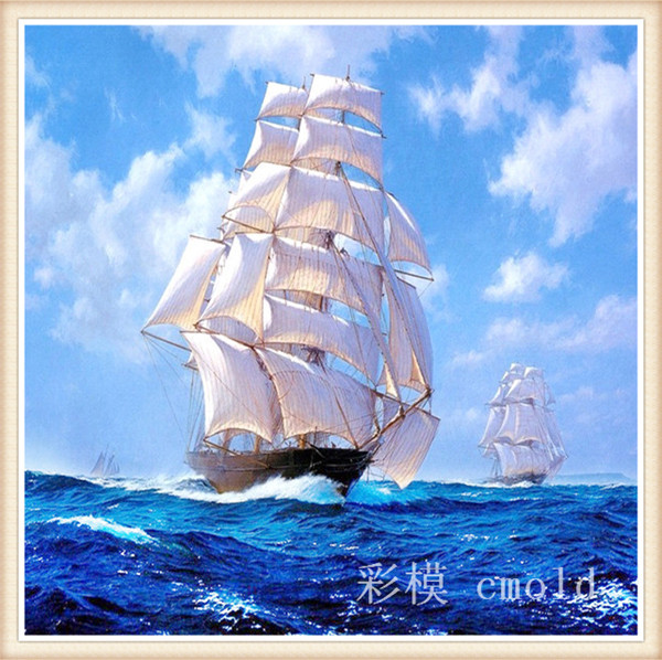 2015 продвижение картины смолы живописные круглый горячая распродажа лодка китайский вышивки крестом алмазов мозаика комплект печатные живопись 2123r