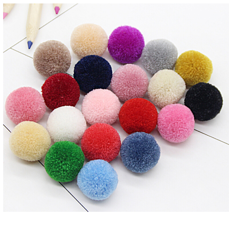 CCINEE 21-38 Color Cashmere Pompom Plush Ball Fluffy Plush Crafts Home Decor 15mm/20mm/25mm/30mm/40mm DIY Craft Supplies