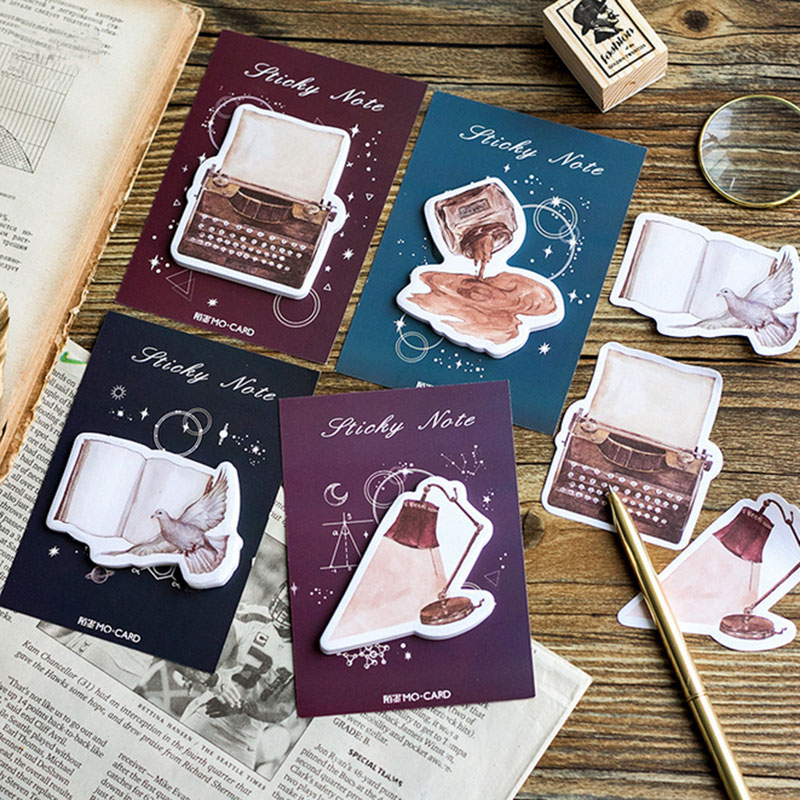4pcs/lot kawaii Vintage objects weekly plan Sticky Notes Post Memo Pad Korean stationery School Supplies Planner Stickers