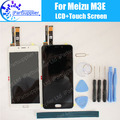 For Meizu M3E LCD Display+Touch Screen 100% Original LCD Digitizer Glass Panel Replacement For Meizu M3E+tool+Ahesive