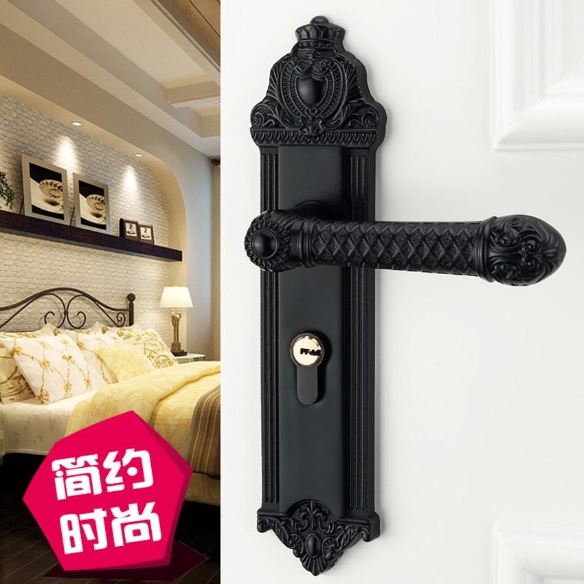 € 62.44 |Serrure de porte intérieure américaine poignée de porte de chambre  serrure de chambre serrure de porte en bois massif maison muet serrure de  ...