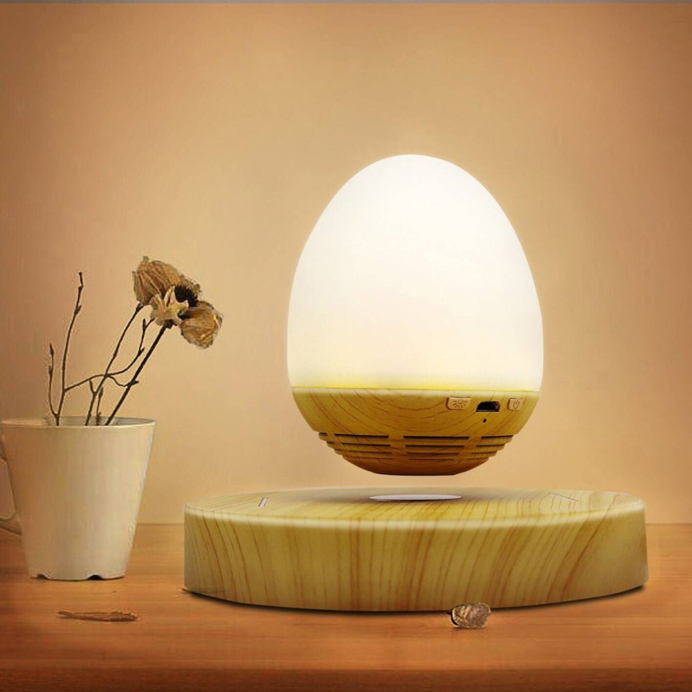 Levitating LED night light Bluetooth Speaker Magnetic Levitation Suspension Portable Soft LED Light Wireless Speaker for home kmashi led flame lamp night light bluetooth wireless speaker touch soft light for iphone android christmas gift mp3 music player