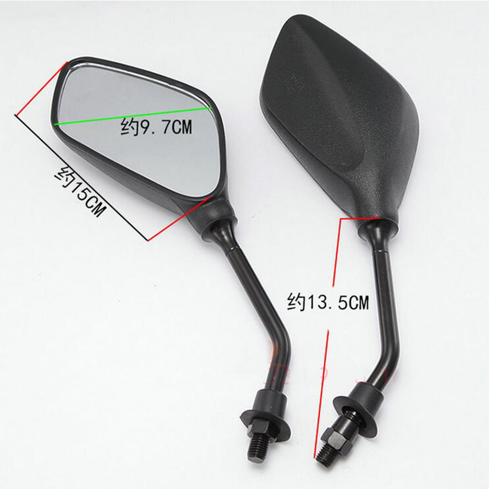 10mm Round Motorcycle Motorbike Moped Scooters Racer Rearview Back Side View Mirror for honda Kawasaki Suzuki Ducati yamaha ktm universal motorbike 7 8 rearview mirrors motorcycle rear view side mirror for yamaha honda suzuki kawasaki parts plastic