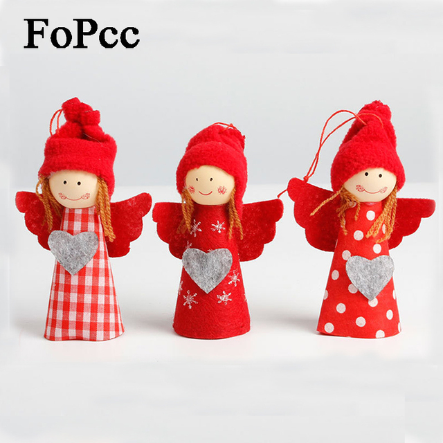 3Pcs Cute Girl Christmas Decorations Christmas Tree Pendant Holder Decor Xmas New Year Christmas Decorations For Home New Doll