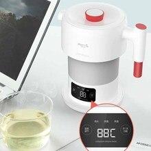 Deerma bouilloire électrique pliable de 0,6l, bouilloire à eau Portable, affichage de la température, contrôle tactile intelligent, Pot isolant