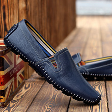Fashion Loafers 2016 Men's Genuine Leather Shoes Lazy Driving Shoes Breathable Leisure Slip-on Loafers Soft Moccasins Men Shoes