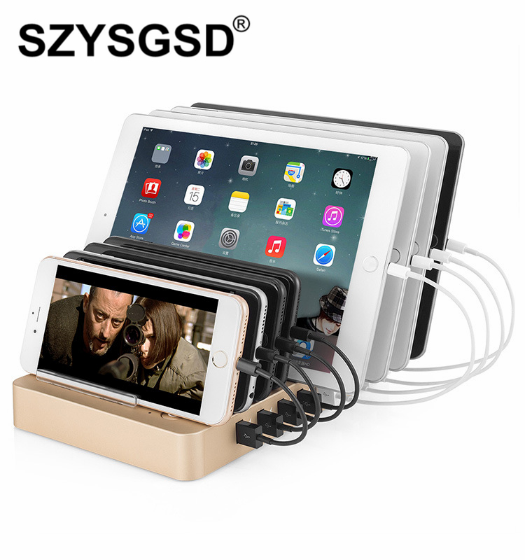 SZYSGSD 8 Ports Multiple Wall USB Charger QC 3.0 Smart Adapter Mobile Phone Tablet Charging Device For iPhone For Samsung Xiaomi