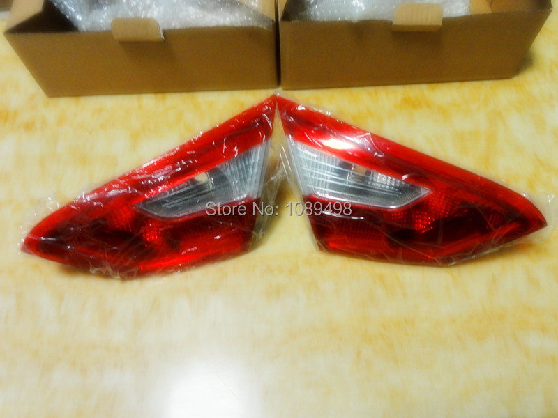 2 Pieces/Pair Tail lights Rear Light Tail Lamp inner Without Bulbs for Ford Focus 3 2012 sedan 2pcs 95mm 15led white rear reversing trunk light waterproof round automobile tail trailer lights bulbs for ford focus lamp nat