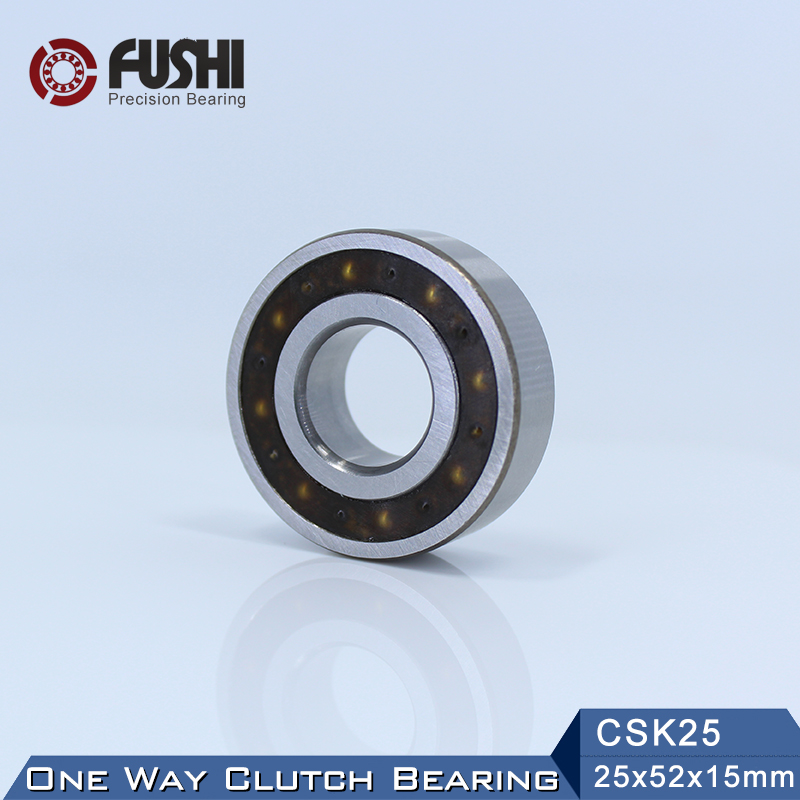 CSK25 One Way Bearing Clutches 25*52*15mm ( 1 PC) Without Keyway CKK25 CSK6205 FreeWheel Clutch Bearings CSK205 csk40pp one way bearing clutches 40 80 18mm 1 pc with keyway csk6208pp freewheel clutch bearings csk208pp