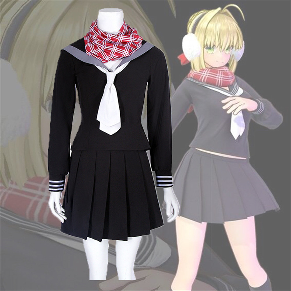 Fate Jeanne d'Arc Cosplay Game Fate EXTELLA LINK Cosplay Library Saint Costume Japanese Sailor Uniform Women Full Sets