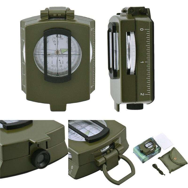 Military Prismatische Sichtung Kompass leuchtende multifunktions Alle-metall hochwertigen Falten Freien Zeigt Guide Kompasse
