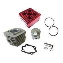 Red CNC Square Cylinder Head&Cylinder&Piston For 66cc 80cc Motorized Bike