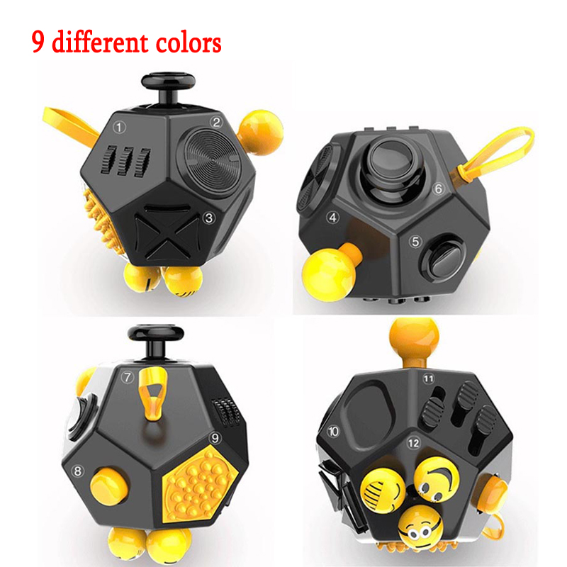 Stress Reliever Fidget Cube Squeeze Fun Toy Anti-stress Relieves Gift Anxiety and Stress Juguet For Adults Fidgetcube Desk Spin ...