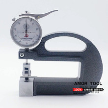 SHAN Thickness gauge 0-10*100mm 0.01mm alloy steel plated coating thickness tester dial thickness gauge with roller insert