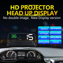 XUNMA BRAND HUD Head-Up Display Car-styling Hud Display Overspeed Warning Windshield Projector Alarm System Universal Auto hot sale universal auto car hud head up display q7 5 5 speedometers overspeed warning dashboard windshield project