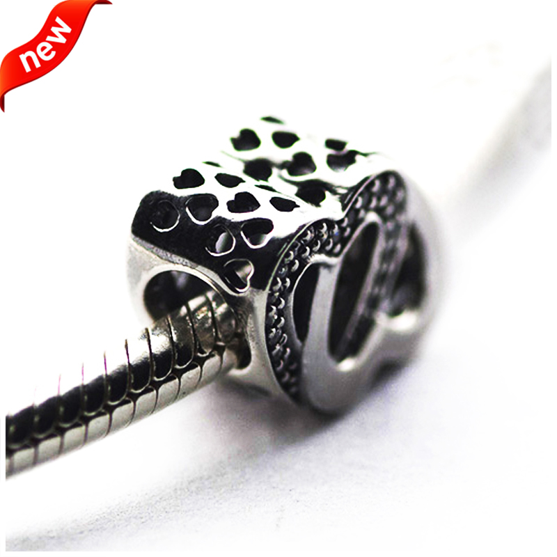 Für Pandora Charms Armbänder Entwined Love Charms mit klaren - Edlen Schmuck - Foto 3