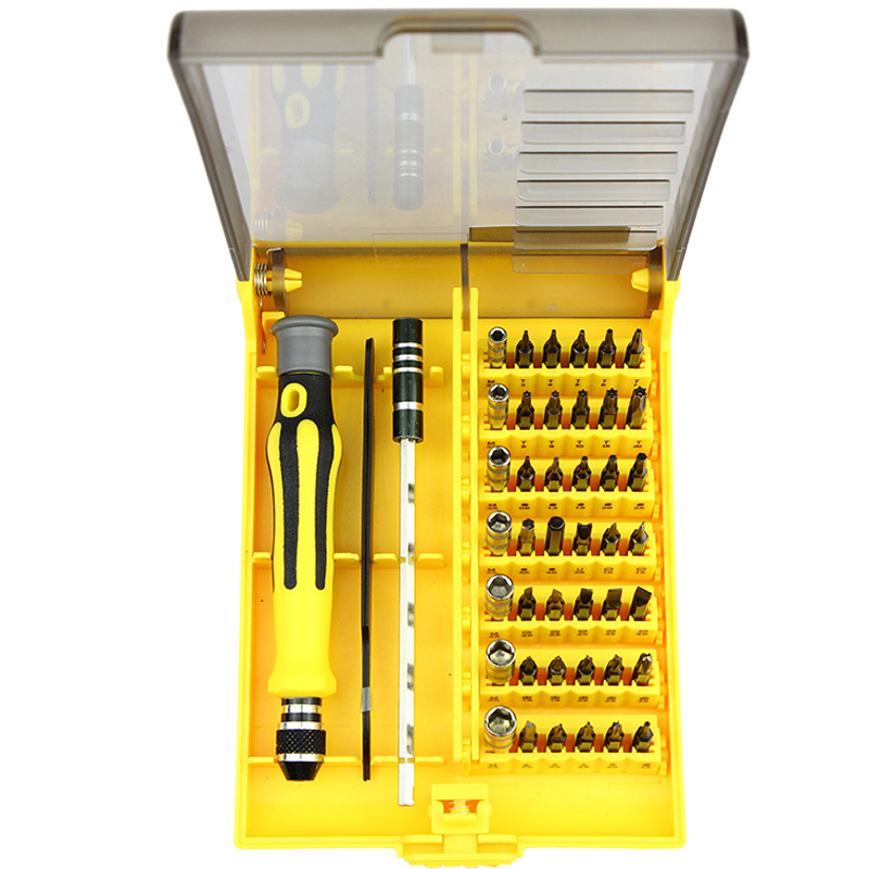 45 in 1 Precision Magnetic Screwdriver Set Torx Screwdriver Bit Tool Kit For Watch PC iPhone