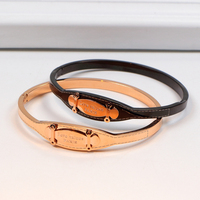 316L Stainless Steel Exquisite Women Bracelets Love Values Paris Top Quality Rose Gold And Black Bangles