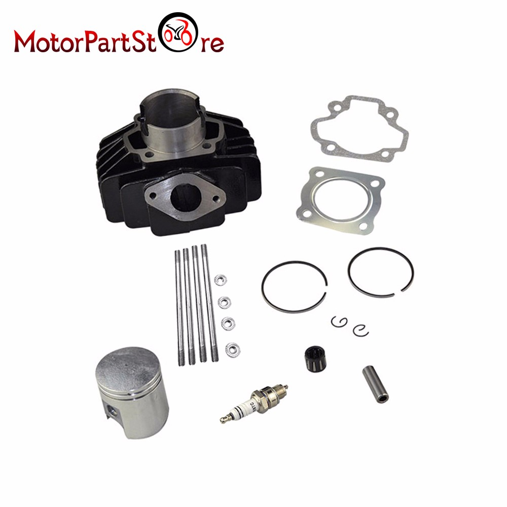 60cc Cylinder Piston Rings Kit for Yamaha PW 50 Big Bore 44mm 1981-2009 with Gaskets & Spark Plug Motorcycle Accessories *